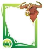 Zodiac frame series: Taurus Royalty Free Stock Images