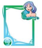 Zodiac frame series: Virgo Stock Image