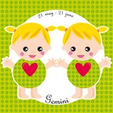 Zodiac- gemini Royalty Free Stock Photo