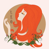 Zodiac girl Leo Stock Photo