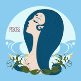 Zodiac girl Pisces Royalty Free Stock Images
