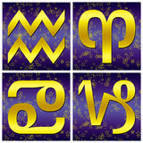 Zodiac gold sign (01) Royalty Free Stock Image