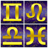 Zodiac gold sign (02) royalty free stock images
