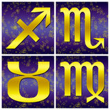 Zodiac gold sign (03) stock photo