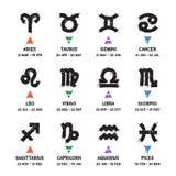 Zodiac Grunge Icons Set Stock Images