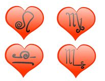 Zodiac hearts icon Royalty Free Stock Image