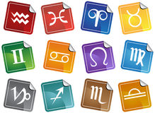 Zodiac Horoscope Icons Stock Photo