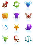 Zodiac Horoscope Icons Royalty Free Stock Image