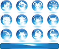 Zodiac Horoscope Icons - Round Stock Photos