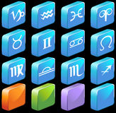 Zodiac Horoscope Icons - Square Royalty Free Stock Photos