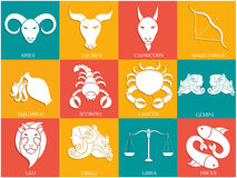Zodiac or Horoscope sign collection. Royalty Free Stock Photo