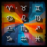 Zodiac - Horoscope Square Vector Icons Set Royalty Free Stock Images