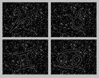 Zodiac horoscope symbols collage Stock Image