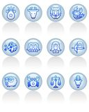 Zodiac icon Stock Photography
