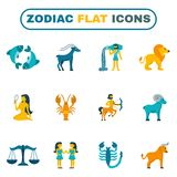 Zodiac Icon Flat Royalty Free Stock Photo