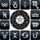 Zodiac Icon Set Royalty Free Stock Photos