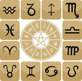 Zodiac Icon Set Royalty Free Stock Photo