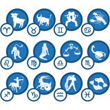 Zodiac Icon Set Royalty Free Stock Photography