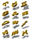 Zodiac icon set 3d (01) Stock Image
