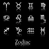 Zodiac icon set. Icon collection of zodiac symbols stock illustration