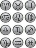 Zodiac Icon Set. Zodiac Icons Set vector grey stock illustration