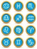 Zodiac icon set Royalty Free Stock Photo