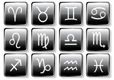Zodiac icons Stock Photography