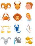 Zodiac icons Stock Images