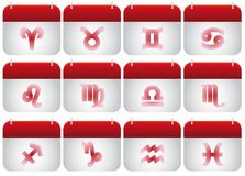 Zodiac icons Stock Photography