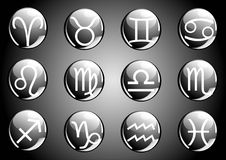 Zodiac icons Stock Image