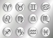 Zodiac icons Royalty Free Stock Image