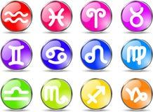 Zodiac icons Stock Photo