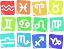 Zodiac icons Royalty Free Stock Photo