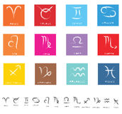 Zodiac Icons Royalty Free Stock Photos