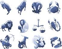 Zodiac icons. Zodiac icon cartoon  illustrations Stock Photo