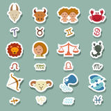 Zodiac icons Stock Photo