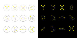 Zodiac icons Royalty Free Stock Photography