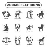 Zodiac Icons Set Stock Photos