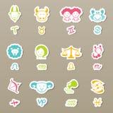 Zodiac icons set  Stock Images