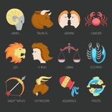 Zodiac Icons Set Royalty Free Stock Photos
