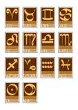 Zodiac icons Royalty Free Stock Photos