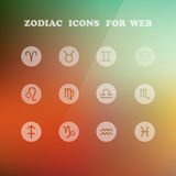 Zodiac icons for your design. Eps 10, vector elegant illustration Stock Image