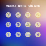 Zodiac icons for your design. Eps 10, vector elegant illustration Royalty Free Stock Image