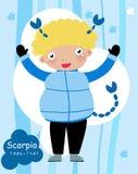 Zodiac-illlustration of a boy-scorpio Royalty Free Stock Photography