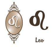 Zodiac - Leo Fotografia Stock Libera da Diritti