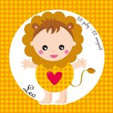 Zodiac- leo. Zodiac- illustration of a girl- leo vector illustration
