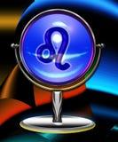 Zodiac leo crystal ball. Zodiac - illustration leo sign in the crystall ball Stock Photography