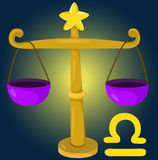 Zodiac libra sign Stock Image