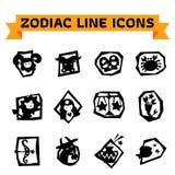 Zodiac Line Icons Royalty Free Stock Photo