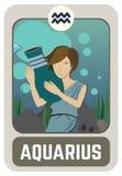 Zodiac man card : Aquarius Stock Images